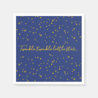 Twinkle Little Star Baby Shower Paper Napkins スタンダードカクテルナプキン