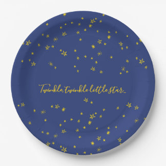 Twinkle Little Star Baby Shower Paper Plates ペーパープレート