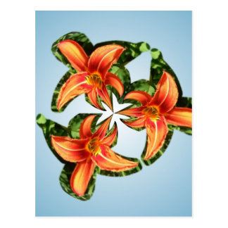Twirlyのオレンジオニユリ ポストカード
