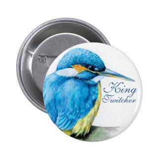 Twitcherカワセミ王のボタンかバッジ 5.7cm 丸型バッジ