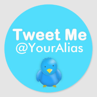 Twitterのステッカー: @YourAlias私はさえずります ラウンドシール