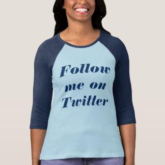 Twitterの私を後を追って下さい Tシャツ