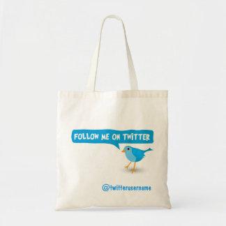 Twitterの青い鳥の予算のトートバックの私を後を追って下さい トートバッグ