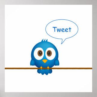 Twitterの鳥ポスター ポスター