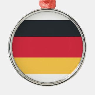 Twitterのemojiを使用してドイツ旗 メタルオーナメント