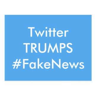 Twitterは擬似ニュースの郵便はがきを切札で取ります ポストカード