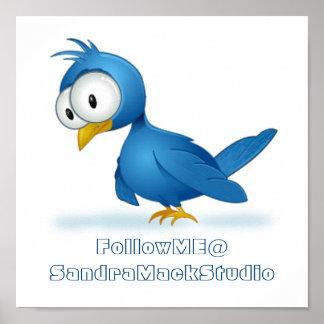 Twitterは私を@ユーザー名後を追います ポスター