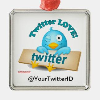 Twitter ID愛オーナメントをカスタマイズ メタルオーナメント