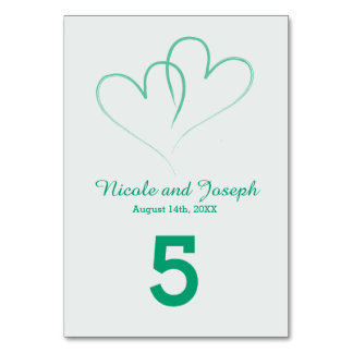 Two Hearts intertwined Table Number -Mint カード