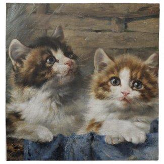 二匹の子猫 プリントナプキン