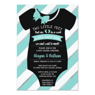 Two Little Feet Baby Shower Invitation カード