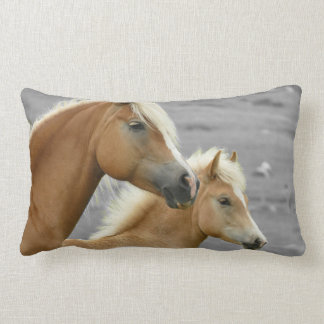 Two Palomino Horses Double Sided Long Pillow ランバークッション