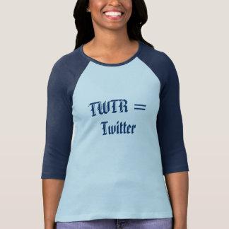 TWTR = Twitter Tシャツ