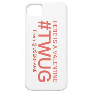 #TWUG (Twitterの抱擁)のiPhoneの場合のバレンタインの付加 iPhone SE/5/5s ケース