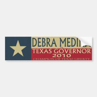 TXの知事2010年のためのデブラマディーナ-豊富なSticke バンパーステッカー