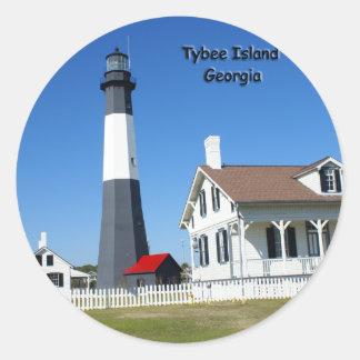 Tybeeの島の灯台 ラウンドシール