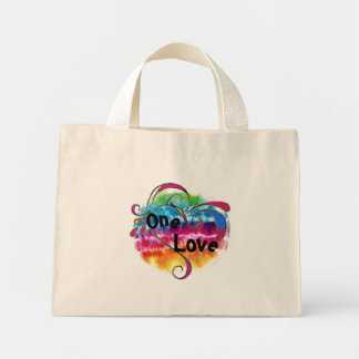 tyeの染料のコピーの円、1つの愛入れ墨、1の愛 ミニトートバッグ