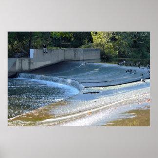 Tyler公園の滝 ポスター