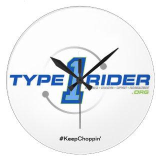 Type1Riderのロゴの大きい円形の柱時計 ラージ壁時計