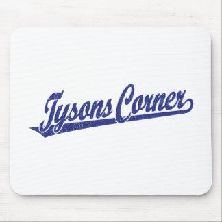 Tysonsの青い動揺しての角の原稿のロゴ マウスパッド
