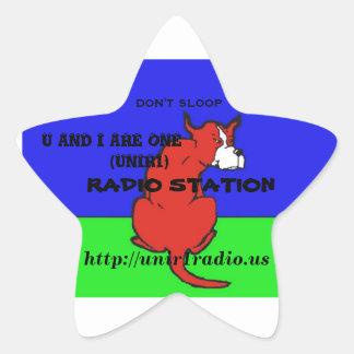 UおよびIは1つのラジオ局の星です 星シール