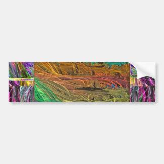 uが虹をあなた自身の方法見たら、異なっていて下さいあって下さい バンパーステッカー