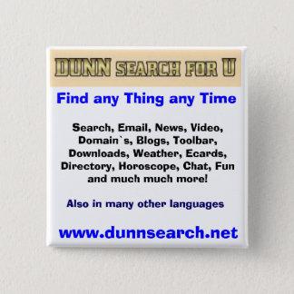 UのためのDUNNボタン 5.1CM 正方形バッジ