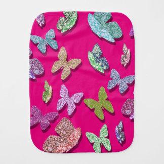 Uの一突き色のなびく織り目加工の蝶 バープクロス