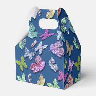 Uの一突き色のなびく織り目加工の蝶 フェイバーボックス