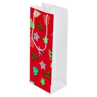 Uの一突き色のクリスマスの休日のクッキー ワインギフトバッグ