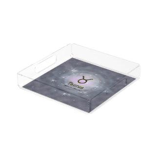Uの一突き色のトーラスの(占星術の)十二宮図の印 トレー