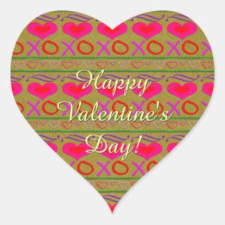 Uの一突き色のバレンタインデーの抱擁およびキス ハートシール