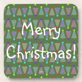 Uの一突き色のメリークリスマスの休日の木 コースター