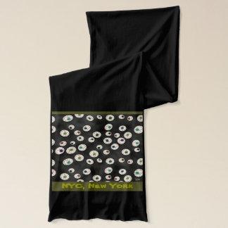 Uの一突き色の浮遊目の球キャンデー スカーフ