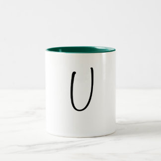 Uの手紙のマグ ツートーンマグカップ