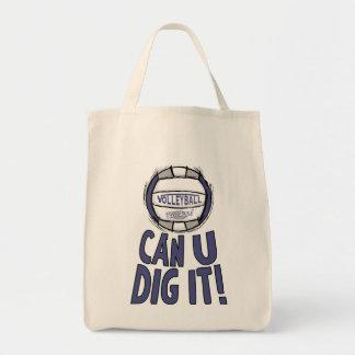 Uの発掘はそれバレーボールの紫色の灰色できます トートバッグ
