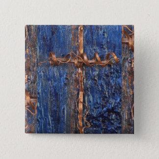 Uの❤️をlove私を-銅の十字の正方形のバッジlove 缶バッジ