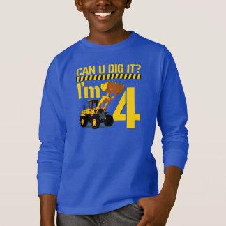 Uはそれを掘ることができますか。 私は4才です Tシャツ