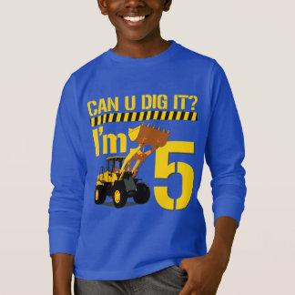 Uはそれを掘ることができますか。 私は5才です Tシャツ