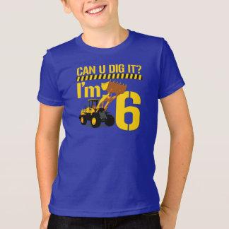Uはそれを掘ることができますか。 私は6才です Tシャツ