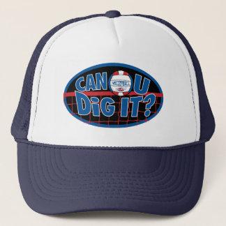 Uはそれを掘ることができますか。 赤および青 キャップ