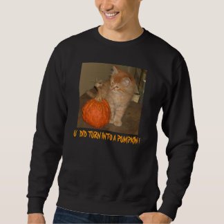Uはカボチャに回りました!  ハロウィンのTシャツ スウェットシャツ