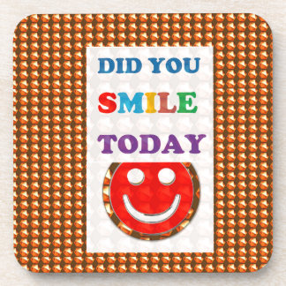 Uは今日微笑しましたか。 知恵の金文字の宝石のおもしろい コースター