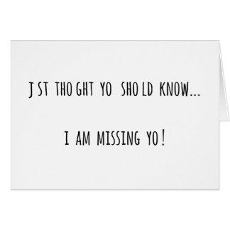Uカードを恋しく思うこと カード
