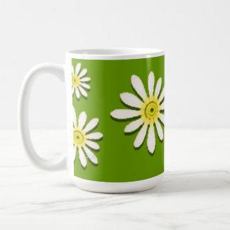 U一突き色のお洒落な野生の花のデイジーは振りかけます コーヒーマグカップ