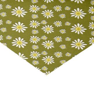 U一突き色のお洒落な野生の花のデイジーは振りかけます 薄葉紙