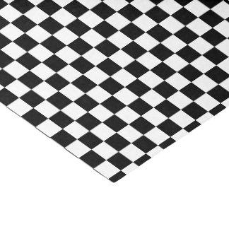 U一突き色の黒のチェック模様のタイル 薄葉紙