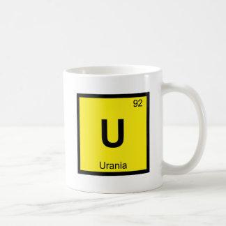 U -ウラニアのムーサ化学周期表の記号 コーヒーマグカップ