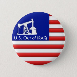 U.S. イラクならボタン 5.7CM 丸型バッジ