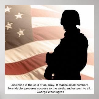 U.S. ジョージ・ワシントンの引用文との兵士 ポスター